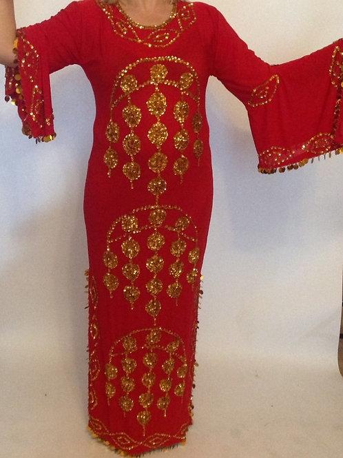 Sequin Moon Dress - red - UK 14