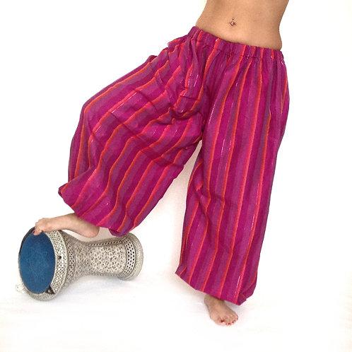 Harem Pants - cerise strpes