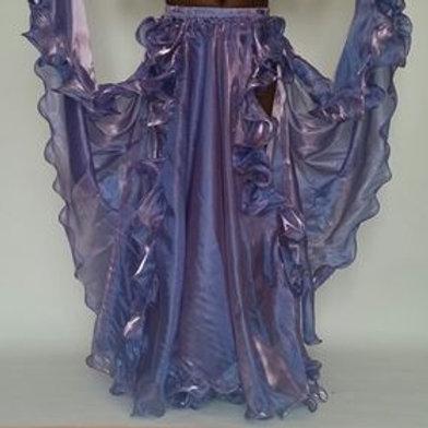 Frilly Skirt Double Split - Wisteria Lilac