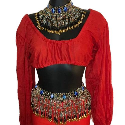 Cleopatra Choker and Belt Set