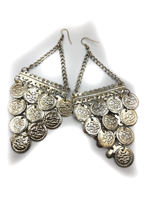 Chandelier Coin Earrings silver