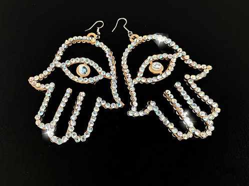 Hamza hand Earrings LARGE