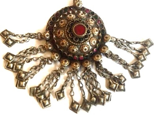 Kuchi Pendant - Dome Red
