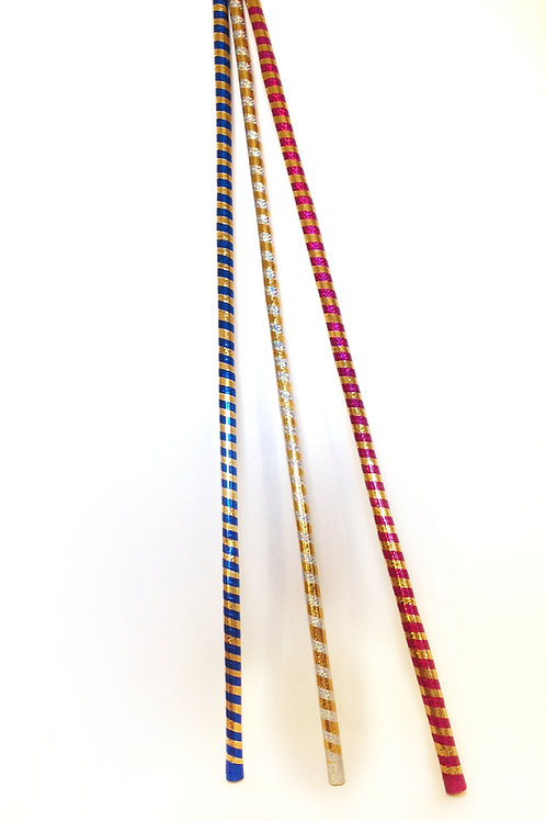 Striped extra long sticks