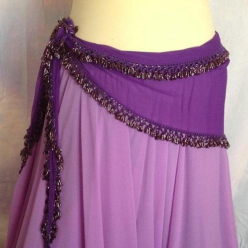 Purple Triangle belt with Beaded Edges