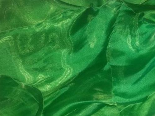 Shimmer Organza Half Moon Veil - green