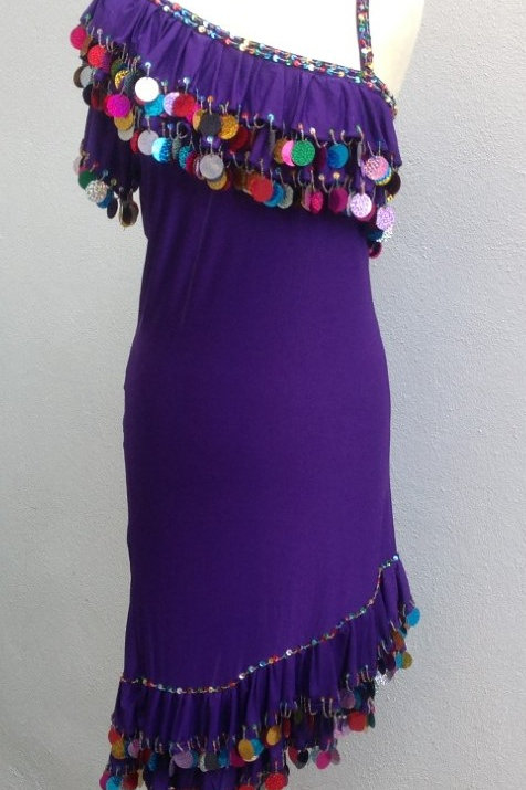 Alexandrian Dress - Purple - UK 12