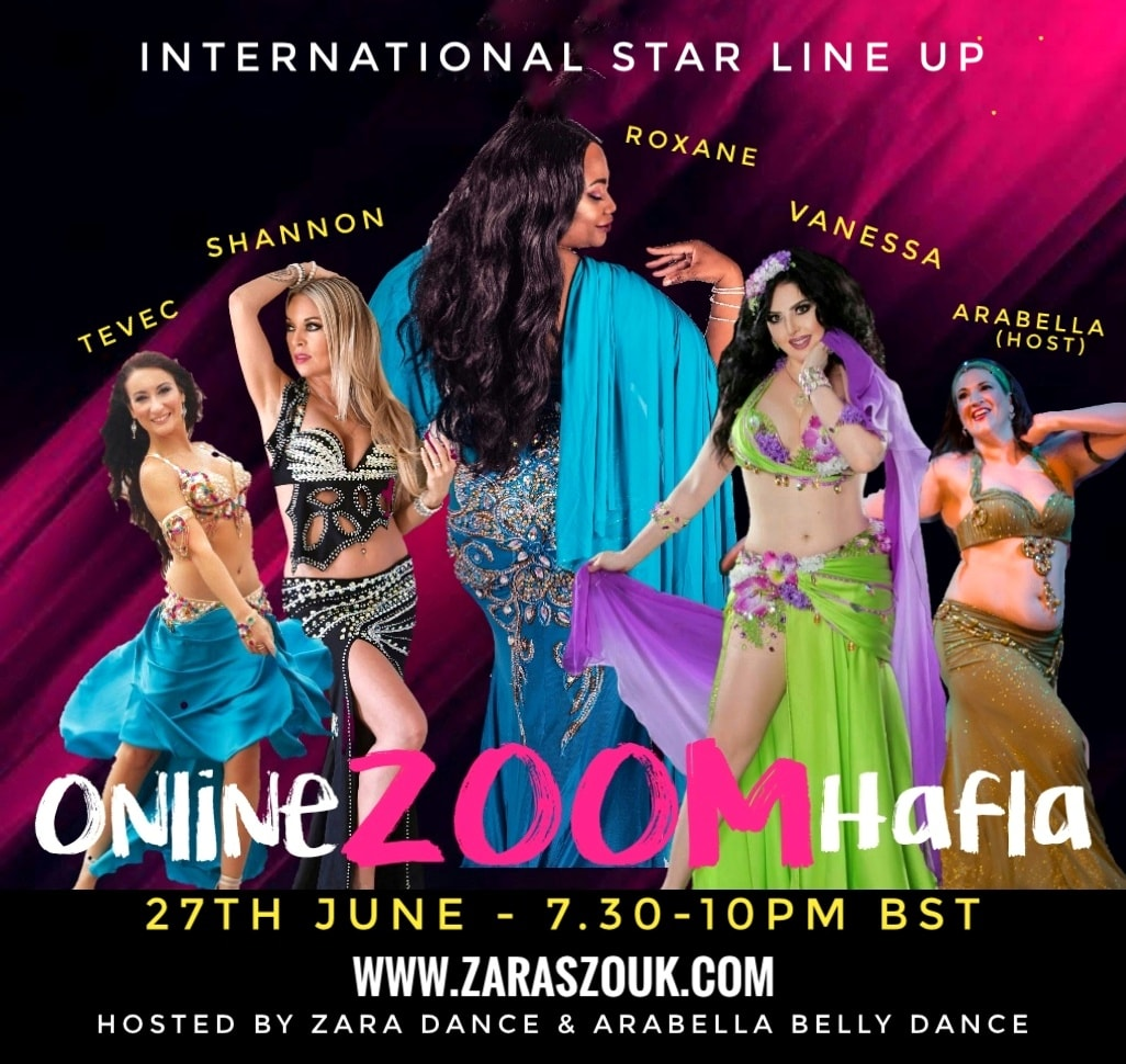 Best online zoom bellydance hafla
