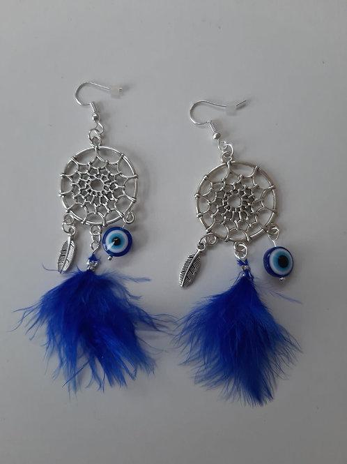 Dream Catcher Evil Eye Earrings