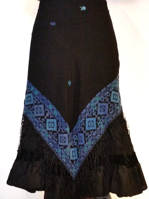 Bedouin Triangle Scarf - Blue