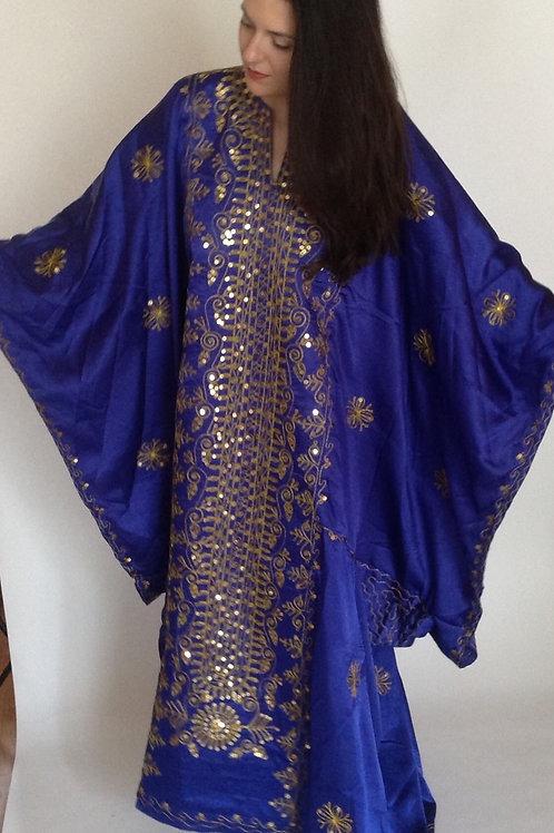 Khaleeji Golden Thobe - blue or emerald