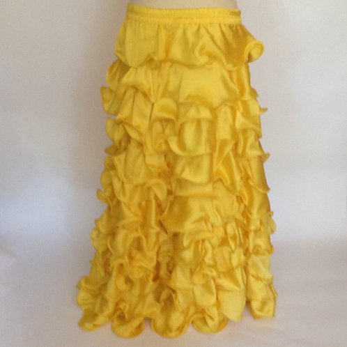 Satin Ra-Ra Skirt - bright yellow