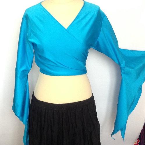 Lycra Tie Top - blue