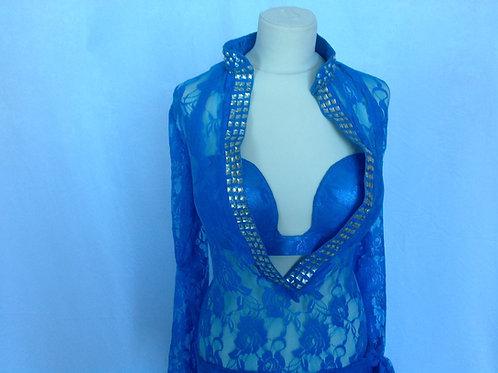 Lace Dress & Bra - Powder Blue UK16/18