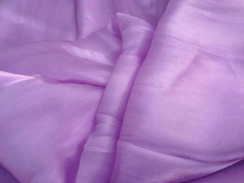 Shimmer Organza Rectangle Veil - lilac