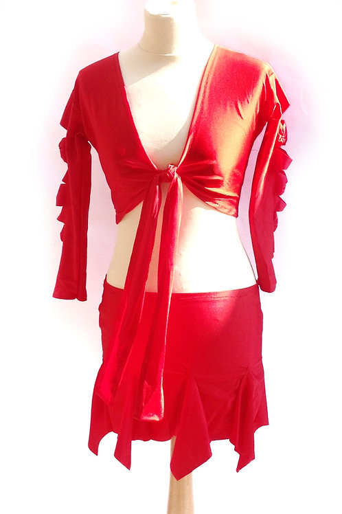 Bow Sleeve Sets in Red, Yellow and Purple - S, M, L, XL,