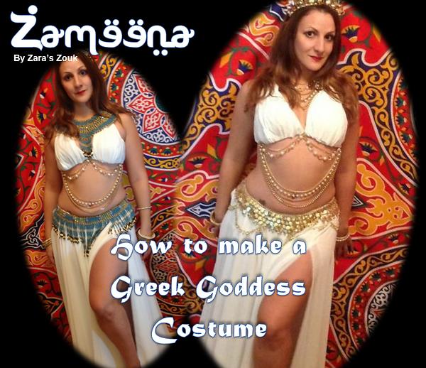 Zameena Free Bellydance Magazine by Zara's Zouk - greek goddess costume by zara dance