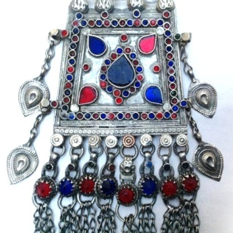 Kuchi Pendant - Long and lovely blue red