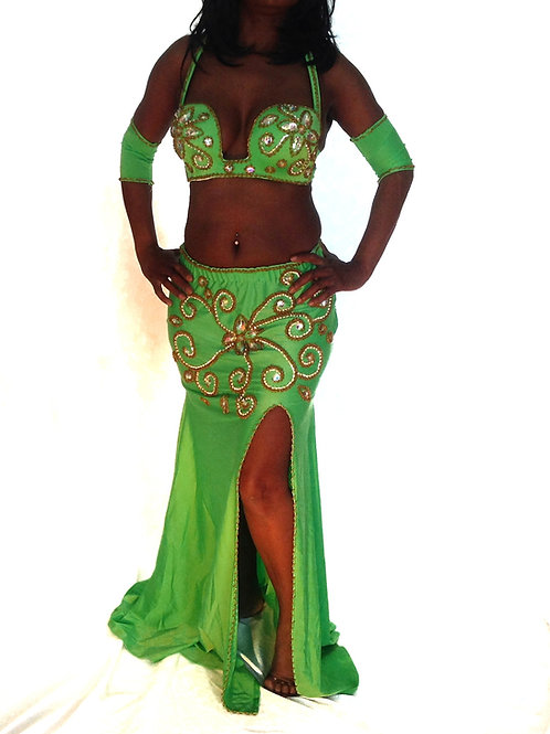 COSTUME ENTICING IN GREEN UK SIZE 10/12