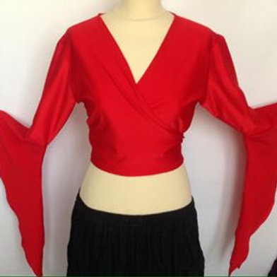 Lycra tie top - red