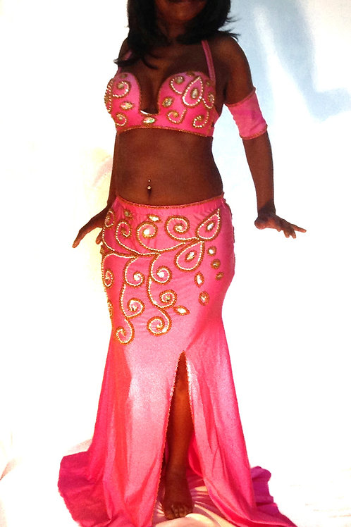 COSTUME ENTICING IN PINK UK SIZE 10