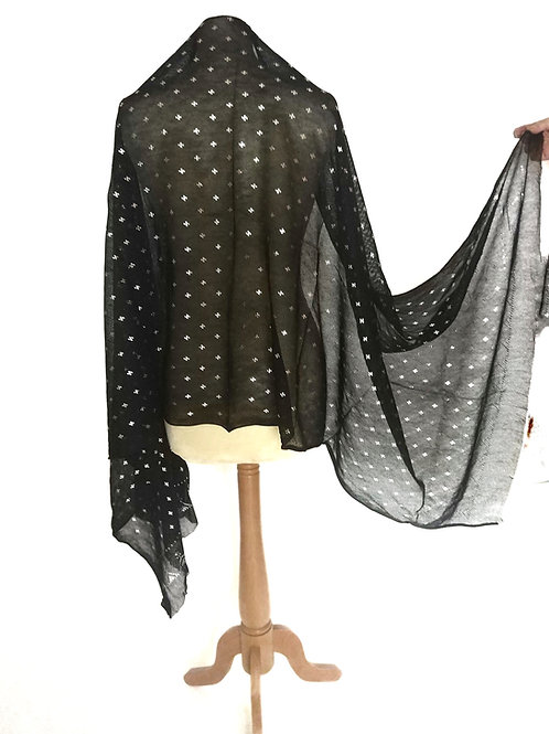 Assuit Shawl (Length of fabric) all over geometric