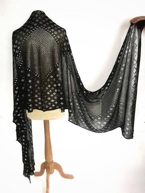 Assuit Shawl (Length of Fabric) Diamonds