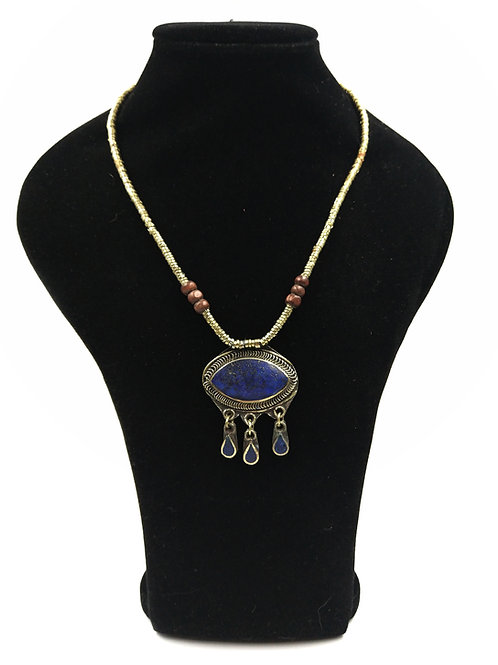 Cute Lapis Kuchi eye necklace
