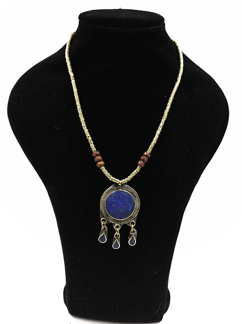 Cute Lapis Kuchi sun necklace