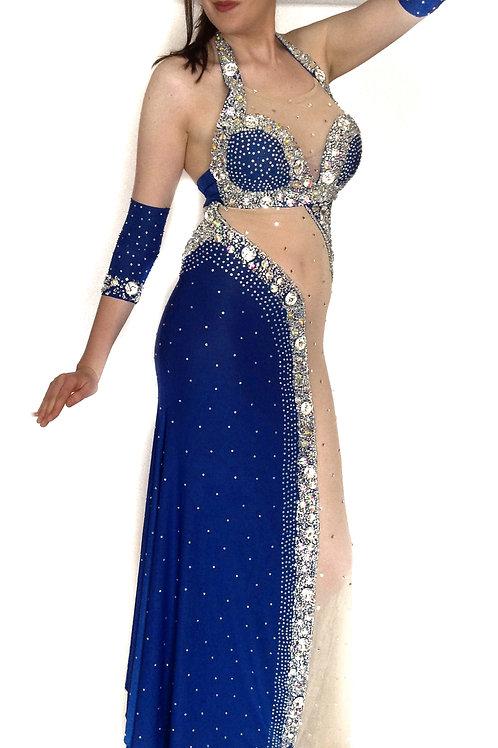Blue Rhinestone Wonder Dress 12/14
