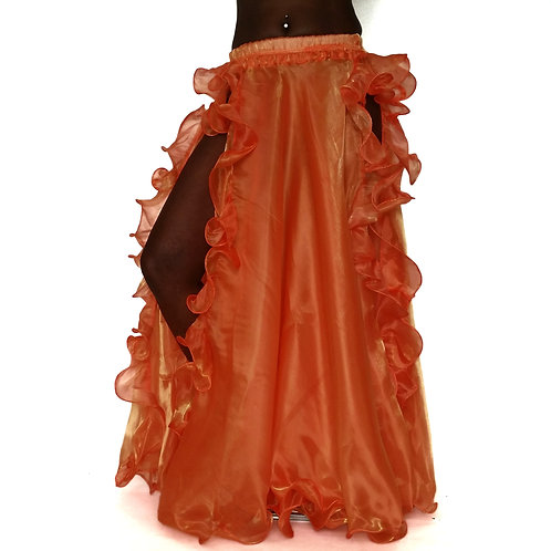 Frilly Skirt Double Split - Satsuma