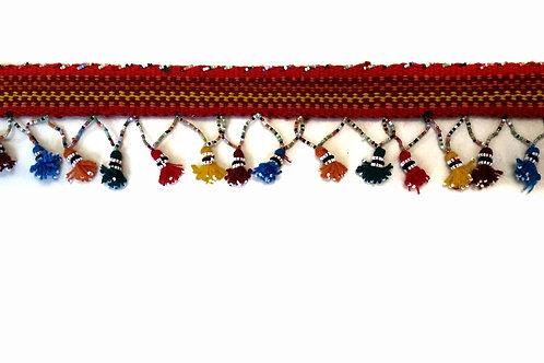 Bedouin Belt - woven in red
