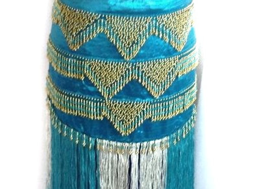 Dramatic Bead Fringe Belt /Skirt