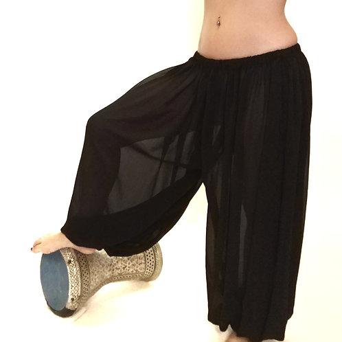 Black Georgette Harem Pants