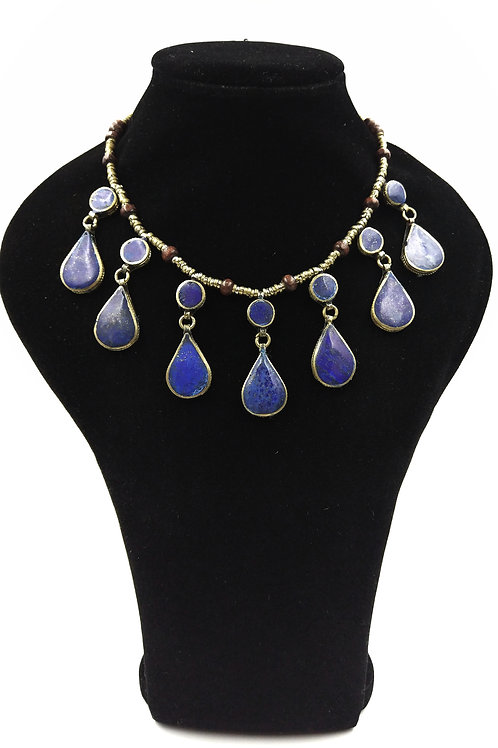 Lapis tear drop necklace BEST SELLER