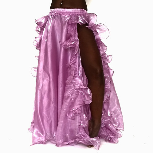 Frilly Skirt Double Split - Wisteria Pink