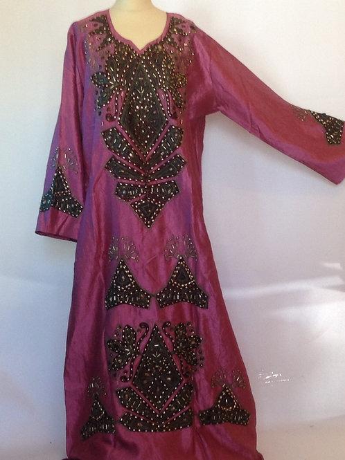 Pink Beaded Syrian Galabeya 18