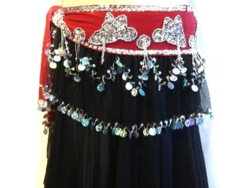 Frilly Fun Belt - Red