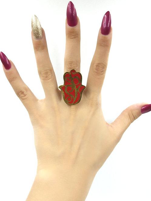 Red Hamza Ring