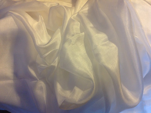 SILK RECTANGLE VEIL - SOLID WHITE