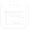 image of an icon representing a gantt chart used for project management