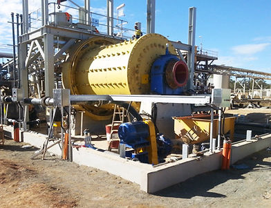 image of a ball mill used in an automated mining process