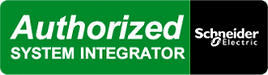 Image of a Schneider Electric authorized system integrator logo