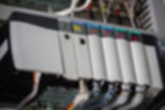 image of an allen bradley PLC rack