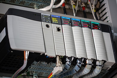 image of an allen bradley PLC rack