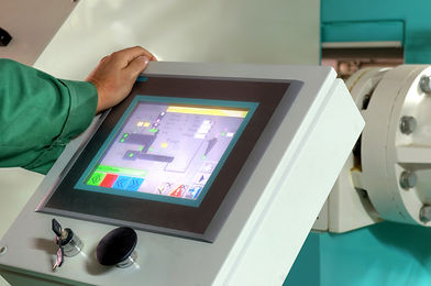 image of a touch screen HMI
