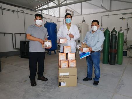 Cerro Prieto donates flowmeters to Chepén Regional Hospital