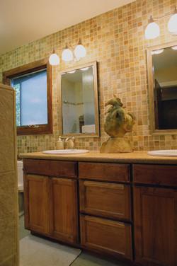Natural Stone & Wood Bathroom