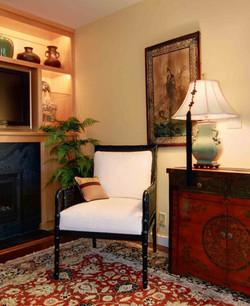 Asian Inspired Family Room