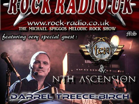 DARREL TREECE-BIRCH TO CO-HOST RADIO SHOW ON ROCK RADIO UK!